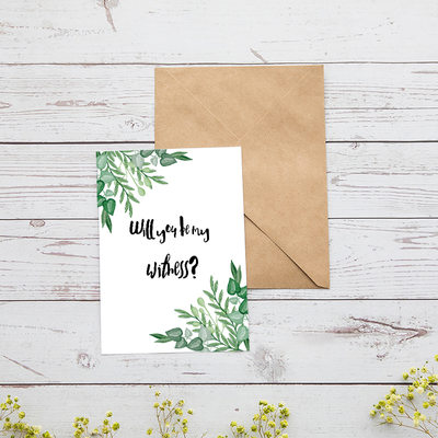 Bridesmaid Gifts - Classic Special Card Paper Wedding Day Card