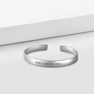 Personalized Unisex Elegant Sterling Silver Engraved Bracelets Bracelets For Bride/For Bridesmaid/For Friends/For Couple