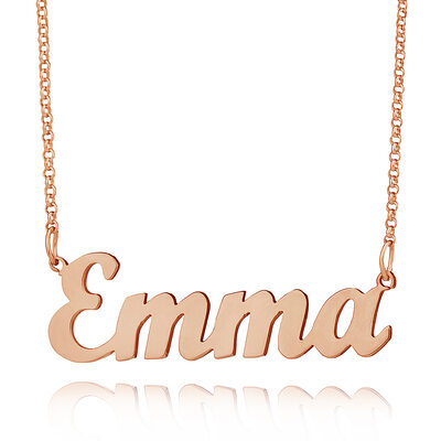 Custom 18k Rose Gold Plated Letter Name Necklace - Valentines Gifts