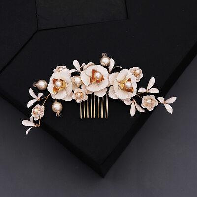 Damen Schöne Faux-Perlen Kämme und Haarspangen mit Kristall (In Einem Stück Verkauft)