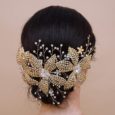 Ladies Glamourous Imitation Pearls/Copper Headbands (Sold in single piece)