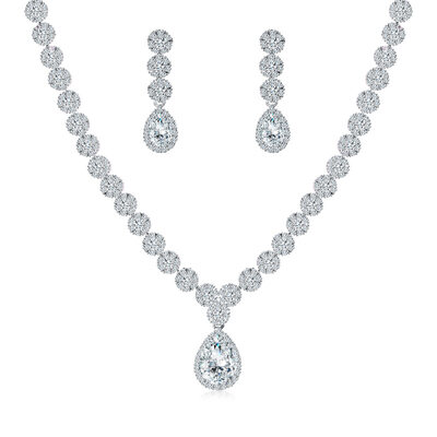 Ladies' Romantic Copper/Cubic Zirconia Cubic Zirconia Jewelry Sets For Bride