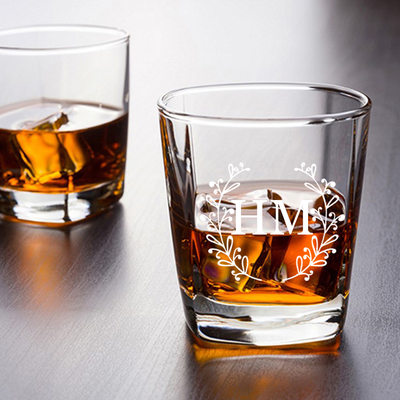 Groomsmen Gifts - Personalized Solid Color Glass Cup