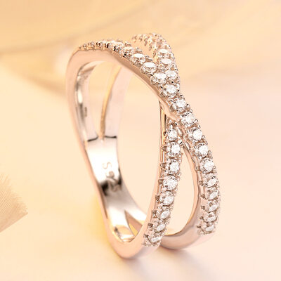 925 Sterling Silver With Round Cubic Zirconia Rings For Bridesmaid/For Friends
