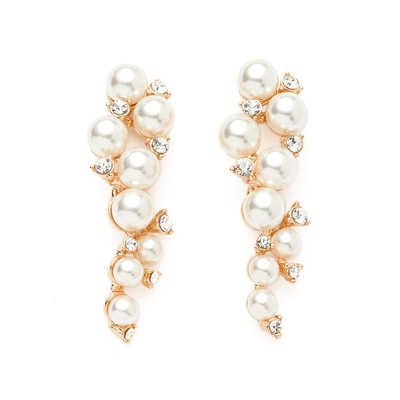 Charming Pearl/Rhinestones Ladies' Earrings