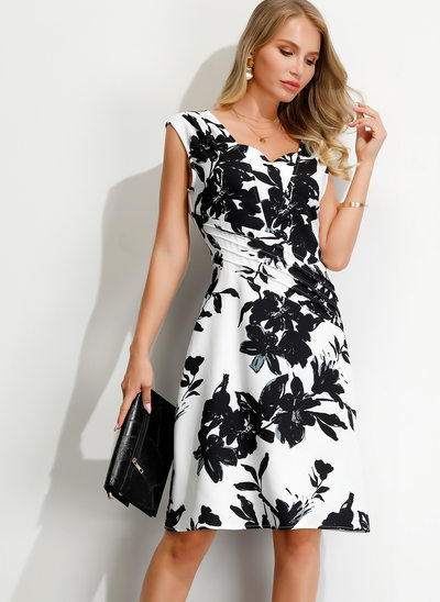 A-Line V-neck Knee-Length Cocktail Dress