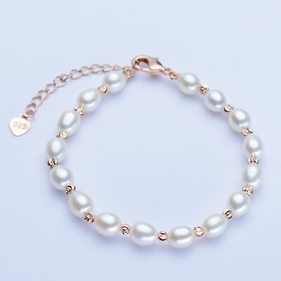 Ladies' Classic Copper/Gold Plated Pearl Bracelets For Bride/For Bridesmaid/For Mother
