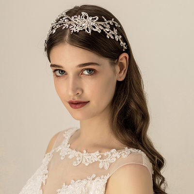 Ladies Beautiful Imitation Pearls Headbands With Venetian Pearl (Sold in single piece)