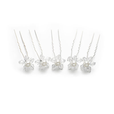 Ladies Fashion Crystal Hairpins With Crystal (Set of 5)