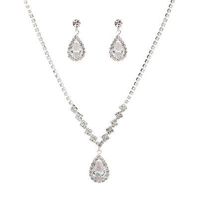 великолепный медь с горный хрусталь/Цирконий женские Комплекты ювелирных изделий