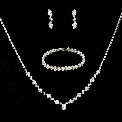 Ladies' Elegant Alloy/Rhinestones Jewelry Sets