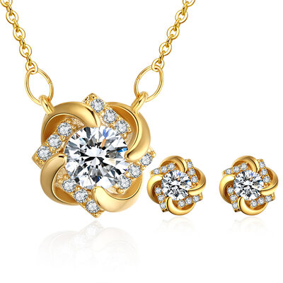 Ladies' Elegant Copper/Zircon Jewelry Sets For Bride/For Bridesmaid/For Mother/For Friends/For Couple
