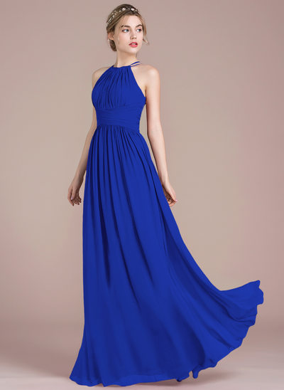 Royal blue bridesmaid dresses images for Long blue dress for wedding