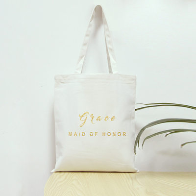 Bridesmaid Gifts - Personalized Simple Canvas Bag