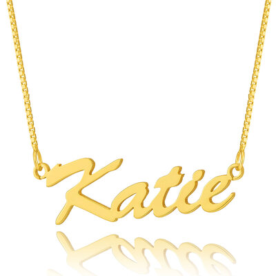Custom 18k Gold Plated Silver Script Name Necklace - Birthday Gifts Mother's Day Gifts