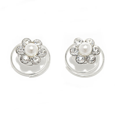 Lovely Alloy/Pearls Hairpins (Set of 2)