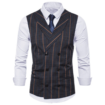 Stripe linen Men's Vest