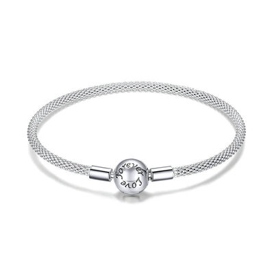 Platinum Plated Link & Chain Chain Bracelets - Valentines Gifts For Her