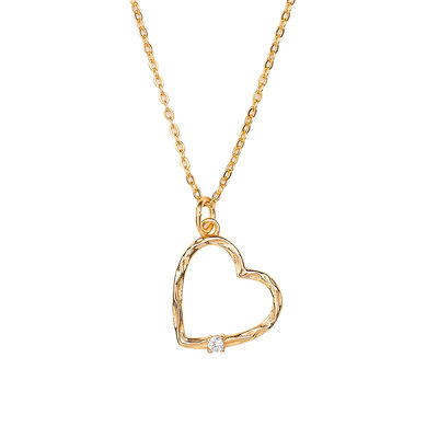 18k Gold Plated Silver Meaning Heart Necklace