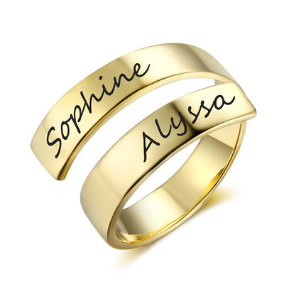 Personalized Elegant S925 Sliver Rings For Bridesmaid/For Friends/For Couple