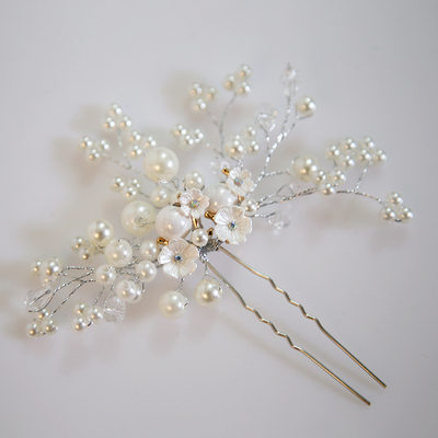 Ladies Exquisite Alloy/Imitation Pearls Hairpins With Venetian Pearl (Sold in single piece)