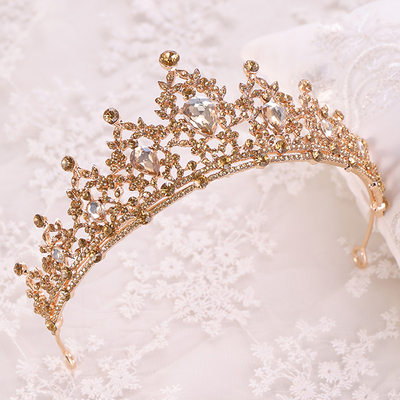 Fashion Rhinestone/Alloy Tiaras With Rhinestone (Sold in single piece)