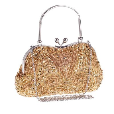 Elegant Sequin/Alloy Clutches/Wristlets/Top Handle Bags/Bridal Purse/Evening Bags