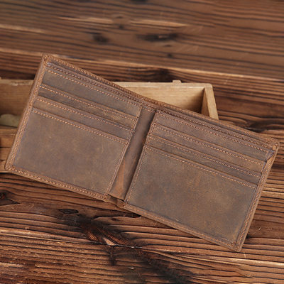 Groom Gifts - Vintage Leather Wallet