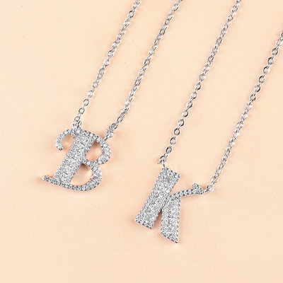 Bridesmaid Gifts - Personalized Eye-catching Zircon Initial Jewelry Necklace