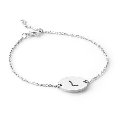 Custom Platinum Plated Delicate Chain Name Bracelets Initial Bracelets - Valentines Gifts For Her