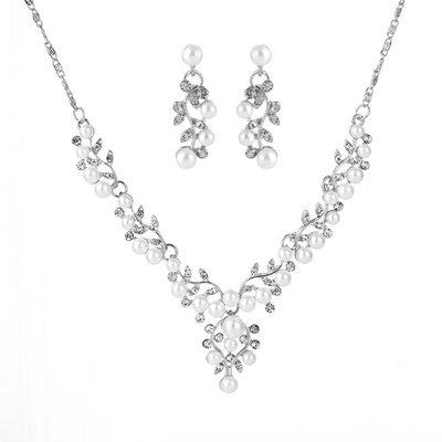 Alloy/Rhinestones/Imitation Pearls With Rhinestone/Imitation Pearls Ladies' Jewelry Sets