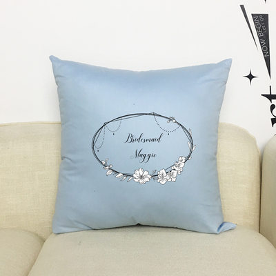 Bridesmaid Gifts - Personalized Solid Color Polyester Pillowcase