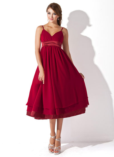 17f7b33695f Empire Sweetheart Knee-Length Chiffon Maternity Bridesmaid Dress With Ruffle