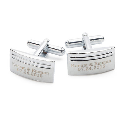 Groom Gifts - Personalized Elegant Alloy Cufflinks