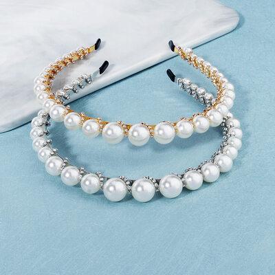Señoras Elegante Rhinestone/La perla de faux Tiaras con Rhinestone (Se venden en una sola pieza)