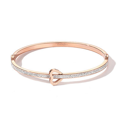 Personalized Ladies' Charming Rose Gold Plated Engraved Bracelets For Bride/For Friends/For Couple