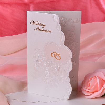 Blumen-Stil Tri-Fold Invitation Cards