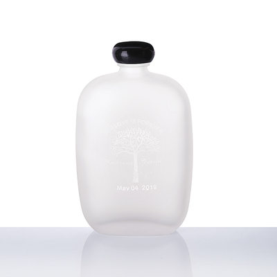 Groomsmen Gifts - Personalized Modern Glass Flask