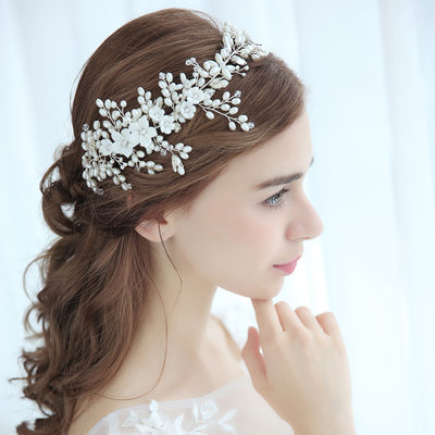 Ladies Charming Alloy Headbands With Venetian Pearl (Sold in single piece)