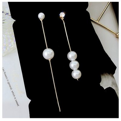 Ladies' Beautiful Alloy/Pearl Earrings