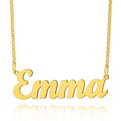Custom 18k Gold Plated Letter Name Necklace - Valentines Gifts