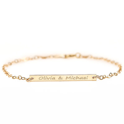 Bride Gifts - Personalized Alloy Bracelet