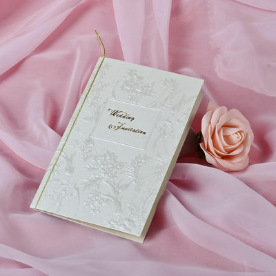 Floral Style Tri-Fold Invitation Cards (Set of 50)