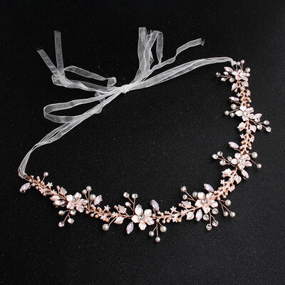 Ladies Rhinestone/Imitation Pearls Headbands (Sold in single piece)