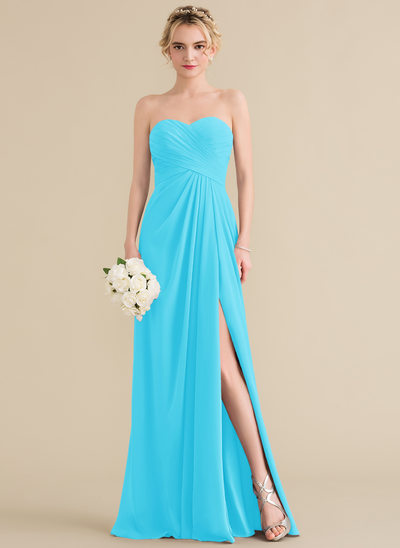 Aqua Pool Blue Bridesmaid Dresses