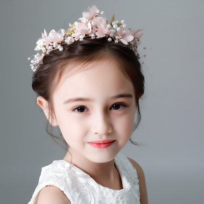 Kids Beautiful Rhinestone/Alloy/Imitation Pearls/Silk Flower Tiaras With Rhinestone/Venetian Pearl (Sold in single piece)