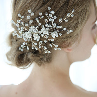 Classic Rhinestone Hairpins With Rhinestone (Sold in single piece)