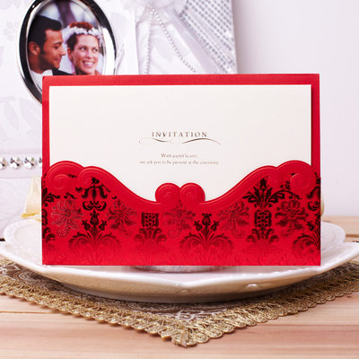 Classic tyyli Wrap & Pocket Invitation Cards (Sarja 50)