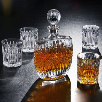 Groom Gifts - Vintage Glass Decanter Set