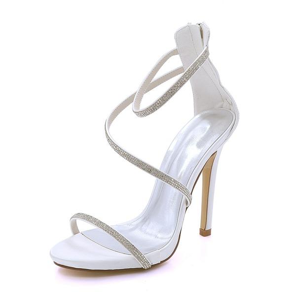 Kvinnor siden som satin Stilettklack Plattform Pumps Sandaler med Andra